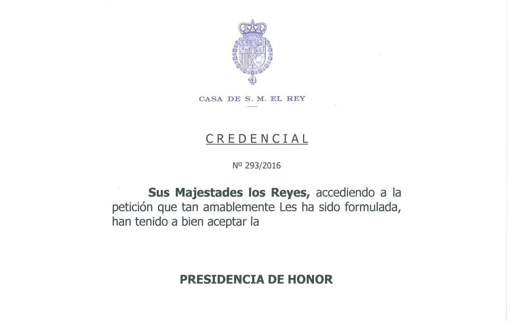Los Reyes confirman la presidencia de honor del Congreso