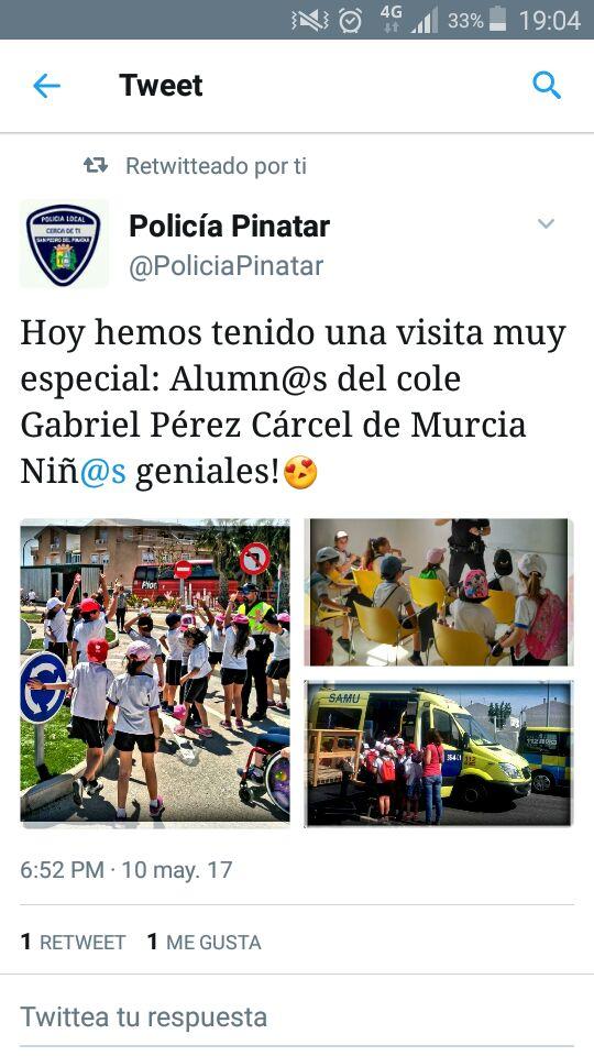 Visita al Parque de Tráfico y Policía Local de San Pedro del Pinatar