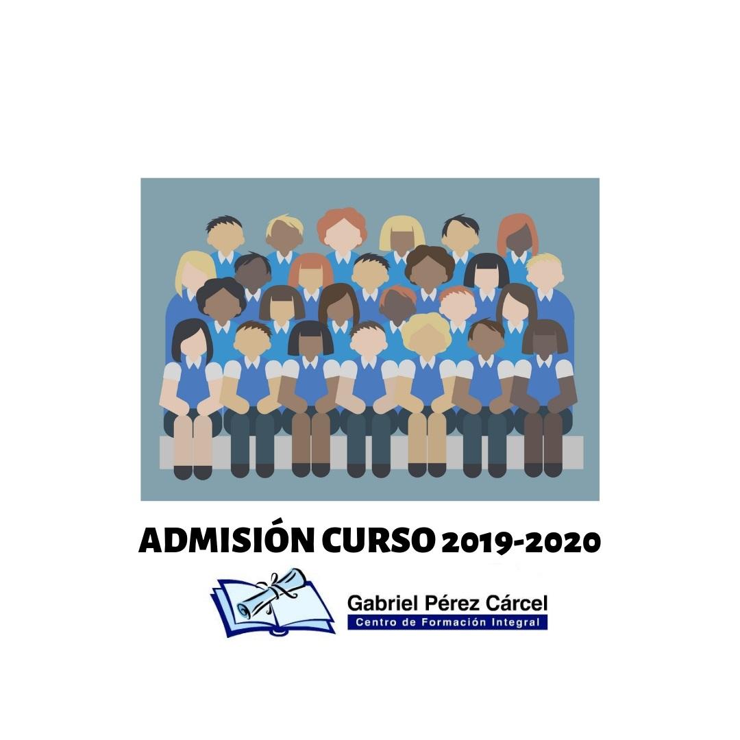 ADMISIÓN ALUMNOS CURSO 2019-2020