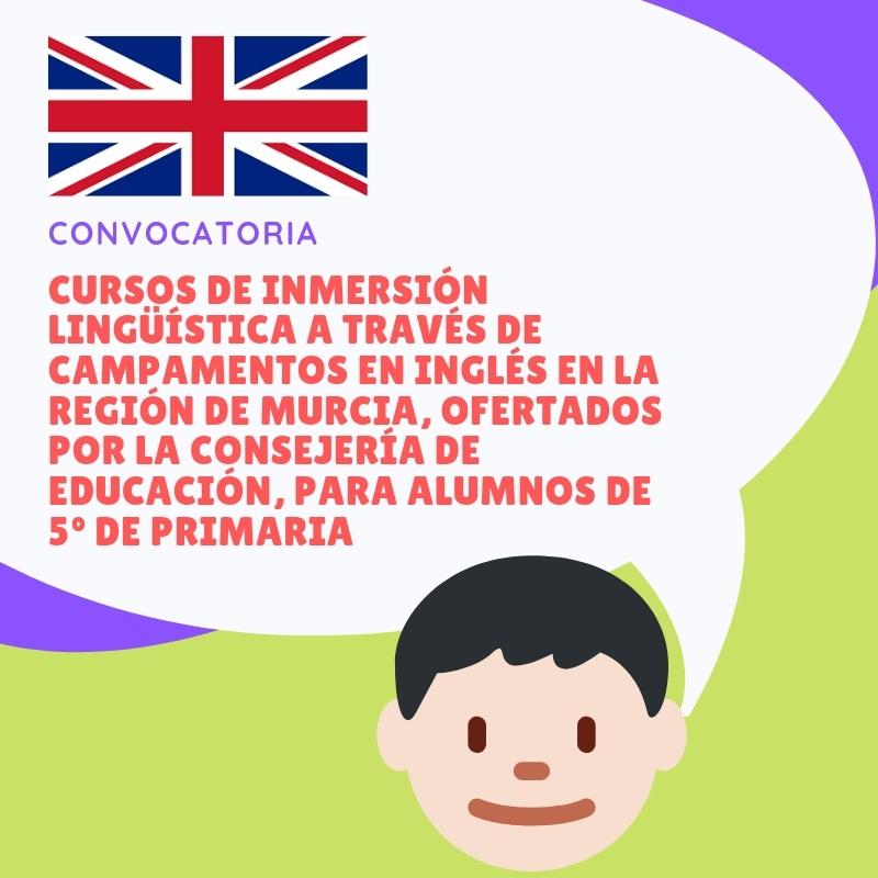 CONVOCATORIA CAMPAMENTOS EN INGLÉS PARA 5º DE PRIMARIA