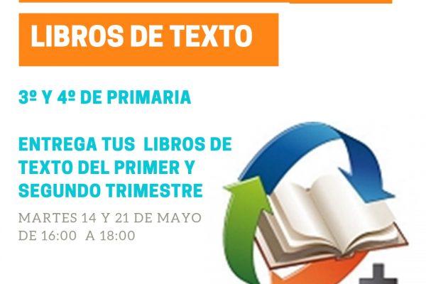 DEVOLUCIÓN LIBROS DE TEXTO 3º Y 4º DE PRIMARIA