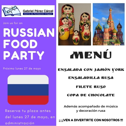 RUSSIAN FOOD PARTY