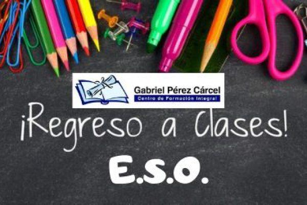 INICIO DE CURSO EN EDUCACIÓN SECUNDARIA