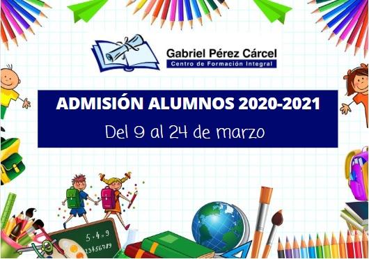 ADMISIÓN ALUMNOS 2020-2021