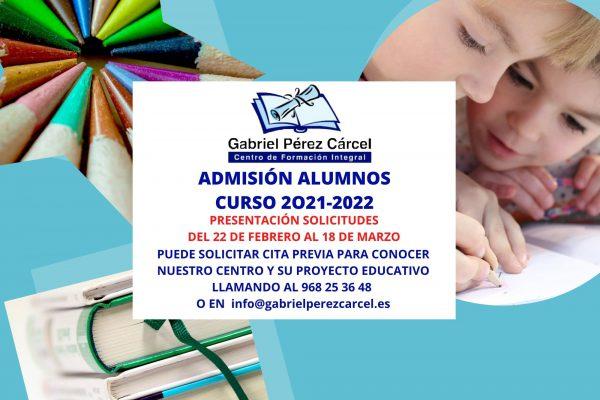 ADMISIÓN ALUMNOS 2021-2022