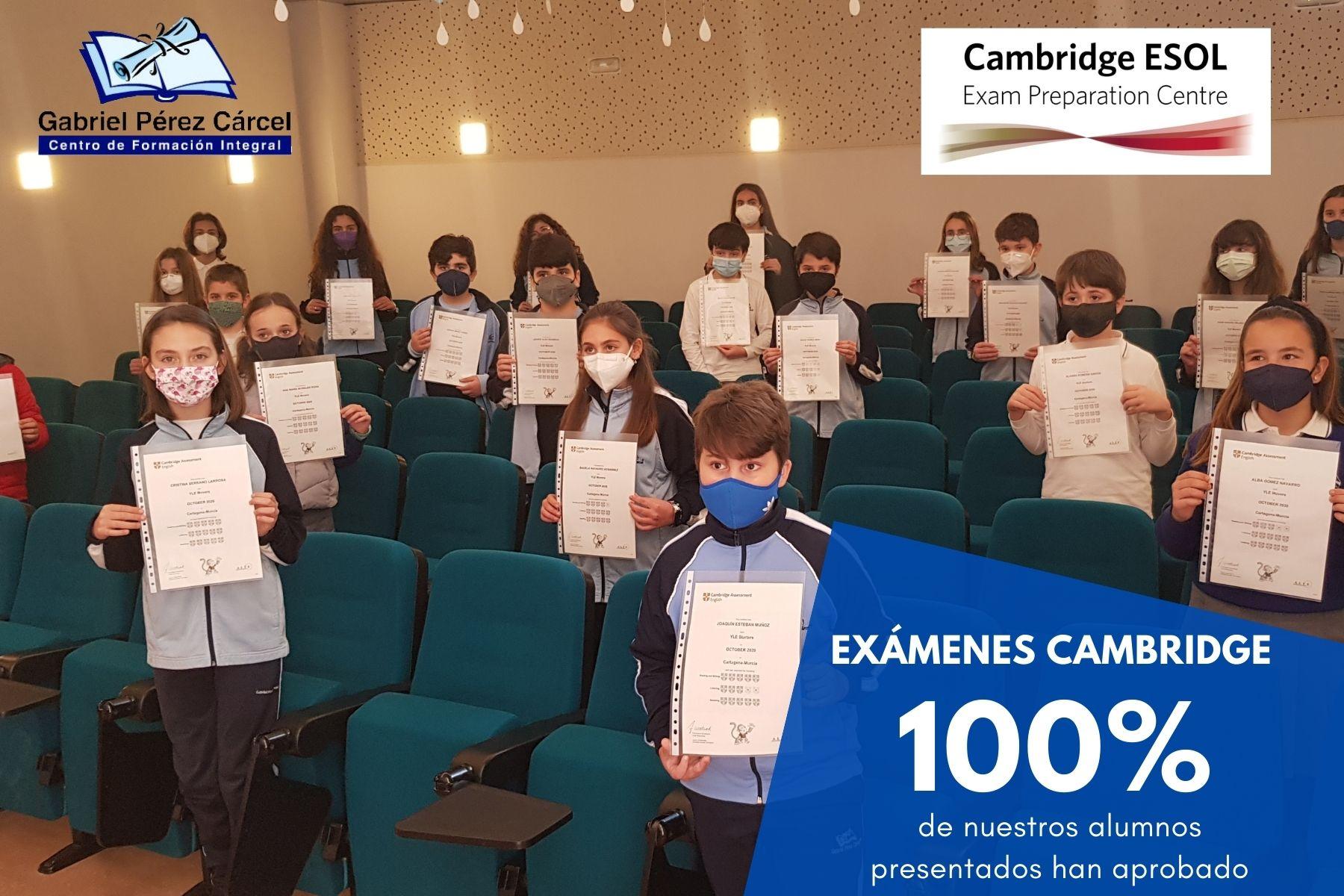 100% APROBADOS EXÁMENES CAMBRIDGE