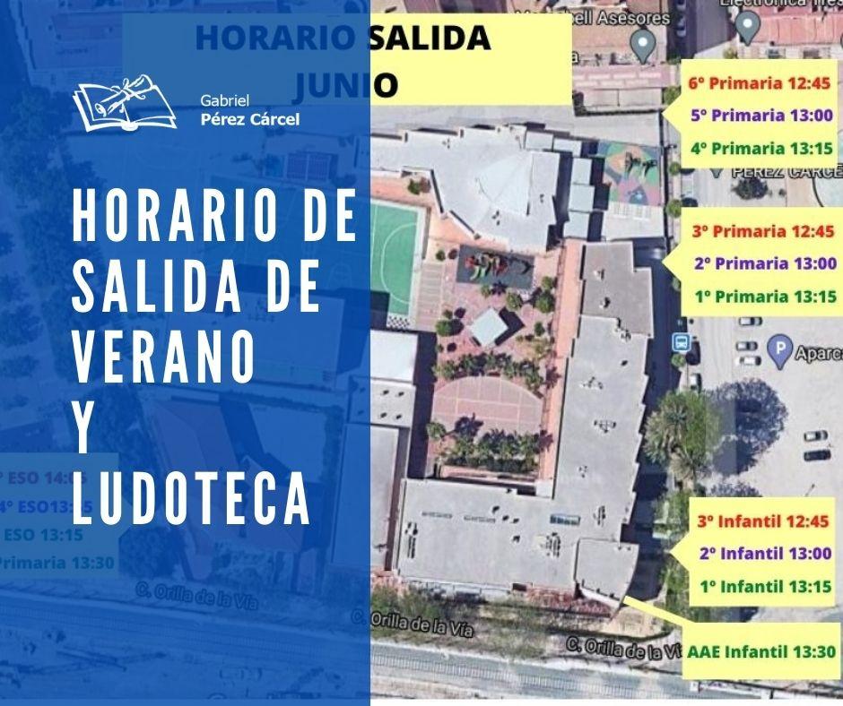 HORARIO DE VERANO Y LUDOTECA